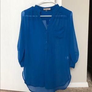 Cute, sheer blue blouse, small